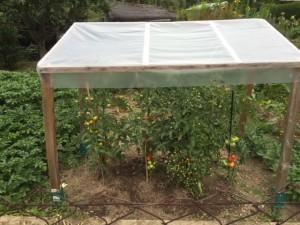 Ein einfaches Dach schützt vor Regen